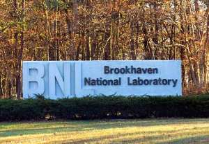 Entrance sign for Brookhaven National Labs